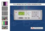 TV & MONITOR PATTERN GENERATORS - Protel