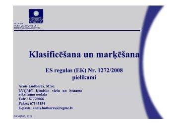 Klasificēšana un marķēšana - LIAA