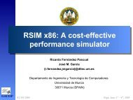 RSIM x86: A cost-effective performance simulator