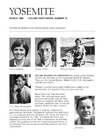 """(March 1982) [PDF] """"We Are Pleased to Announce"""" - Yosemite Online"""