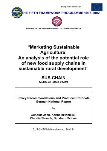 """Marketing Sustainable Agriculture: An analysis of the ... - sus-chain"