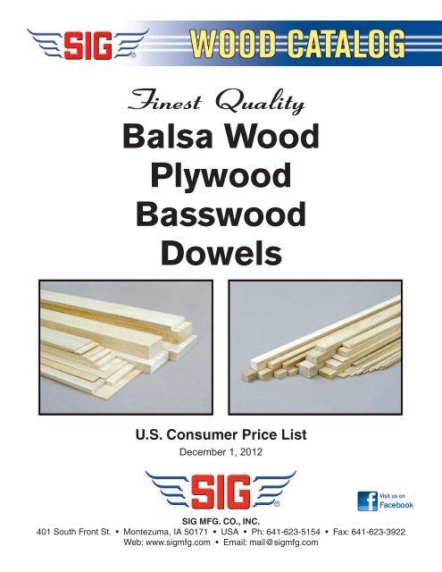 Balsa Wood Plywood Basswood Dowels - RC Universe