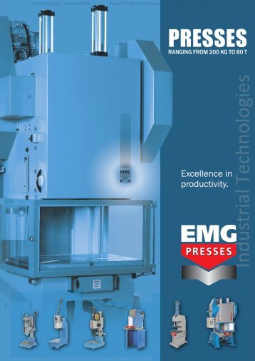 Presses Ranging from 200kg to 80t EMG - Industrial Technologies