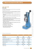 Presses Ranging from 200kg to 80t EMG - Industrial Technologies - Page 7