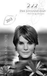 Preisliste 2013 - Das Johannesbad