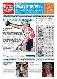 6days-news.de - Tag 3 und 4 - 6 Tage Rennen