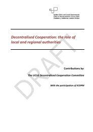 Decentralised Cooperation: the role of local and regional ... - UCLG