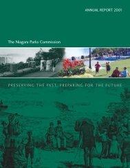 2001 Annual Report - Eng - Niagara Parks