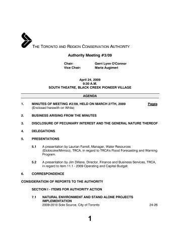 Meeting - Authority - Toronto and Region Conservation Authority