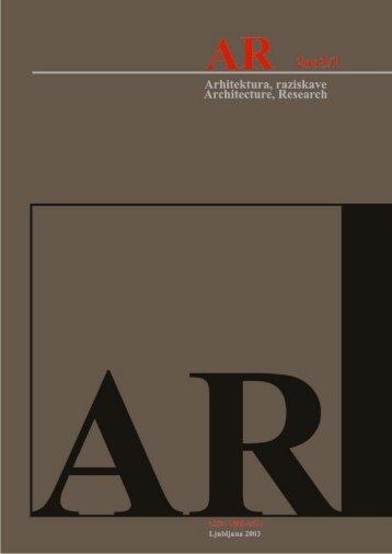 Revija 2003/1 v PDF - Fakulteta za arhitekturo - Univerza v Ljubljani