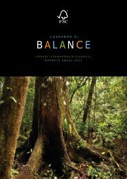 BAL ANCE - Forest Stewardship Council