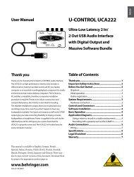 U-CONTROL UCA222 User Manual - SameDayMusic.com