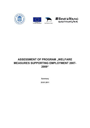 """assessment of program """"welfare measures supporting employment ..."""