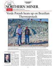 Verde Potash heats up on Brazilian thermopotash - Ahead of the Herd