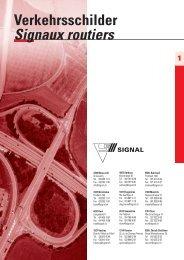 Verkehrsschilder Signaux routiers - Signal AG