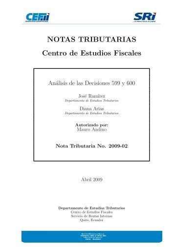 NT 2009-02 - Centro de Estudios Fiscales