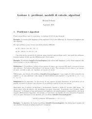 Lezione 1: problemi, modelli di calcolo, algoritmi