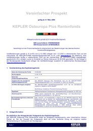 VVKP KEPLER Osteuropa Plus Rentenfonds 15.11 ... - boerse-live.at