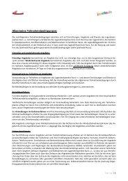 Allgemeine Teilnahmebedingungen: - Jugendnetzwerk Konz