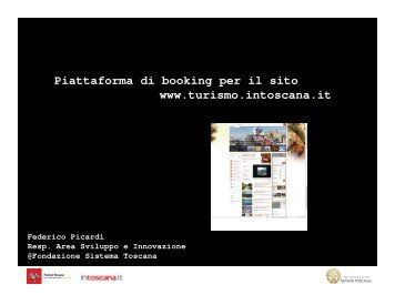 Microsoft PowerPoint - bookingv_v4.ppt [modalit ... - Blog - Intoscana.it
