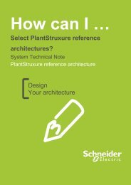 Select PlantStruxure reference architectures? - Schneider Electric ...