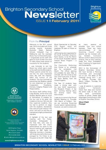 Newsletter February 2011 - Brighton Secondary School