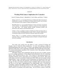 Article 65. Working With Gamers: Implications for Counselors