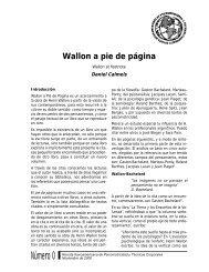 Wallon a pie de página - Universidad de Chile