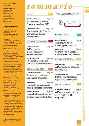 sommario - Camera di Commercio di Parma
