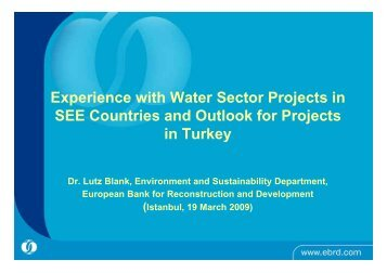 Experience with Water Sector Projects in SEE Countries and Outlook ...