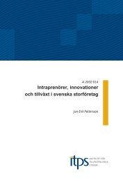 Intraprenörer, innovationer och tillväxt i svenska storföretag