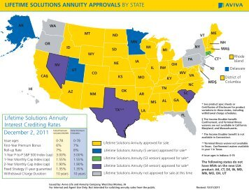 LIFETIME SOLUTIONS ANNUITY APPROVALS BY ... - ECA Marketing