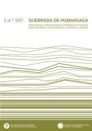 Humahuaca09 A+P - Facultad de Arquitectura, Diseño y Urbanismo