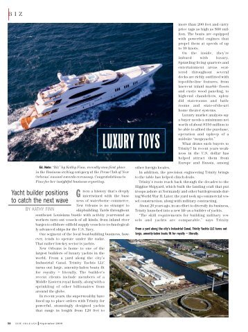 New Orleans Magazine - Trinity Yachts