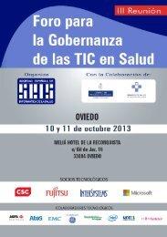 III Reunión Foro para la Gobernanza de las TIC en Salud - Sociedad ...