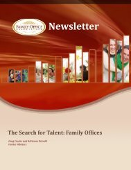 Newsletter - the Family Office Association