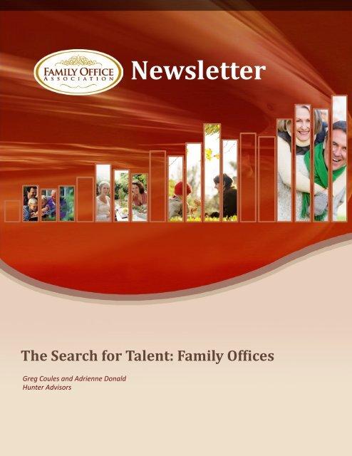 Newsletter - the Family Office Association