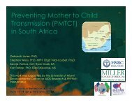 Preventing Mother to Child Transmission (PMTCT) in South Africa