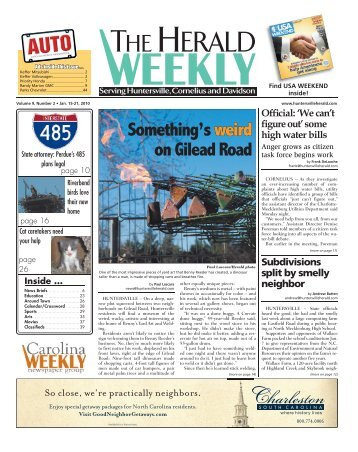 Something's weird on Gilead Road - Carolina Weekly Newspapers