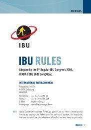 IBU Constitution - International Biathlon Union