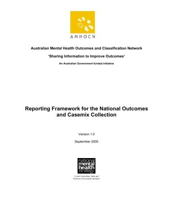 AMHOCN Reporting Framework - Australian Mental Health ...