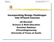 Incorporating Design Challenges into UTeach Courses
