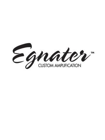 Egnater - Catálogo amplificador - Arco Iris Musical