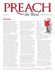 Vol. 5.2 Preach the Word Nov / Dec 2001 (PDF)