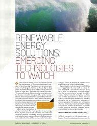 Renewable eneRgy SolutionS: emeRging ... - DNV Kema