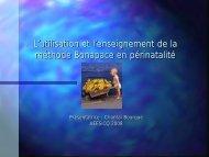 L'utilisation et l'enseignement de la méthode Bonapace en ... - aeesicq