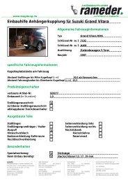 Einbauhilfe Anhängerkupplung für Suzuki Grand Vitara