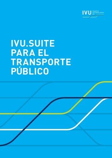 IVU.suite para el transporte público - IVU Traffic Technologies AG