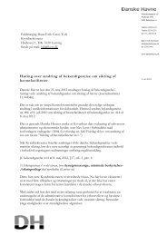 Høring over ændring af bekendtgørelse om sikring ... - Danske Havne