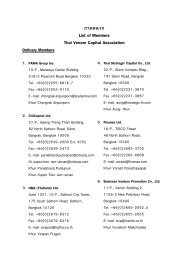 "¿""§ºπ«° List of Members Thai Venure Capital Association - Nectec"